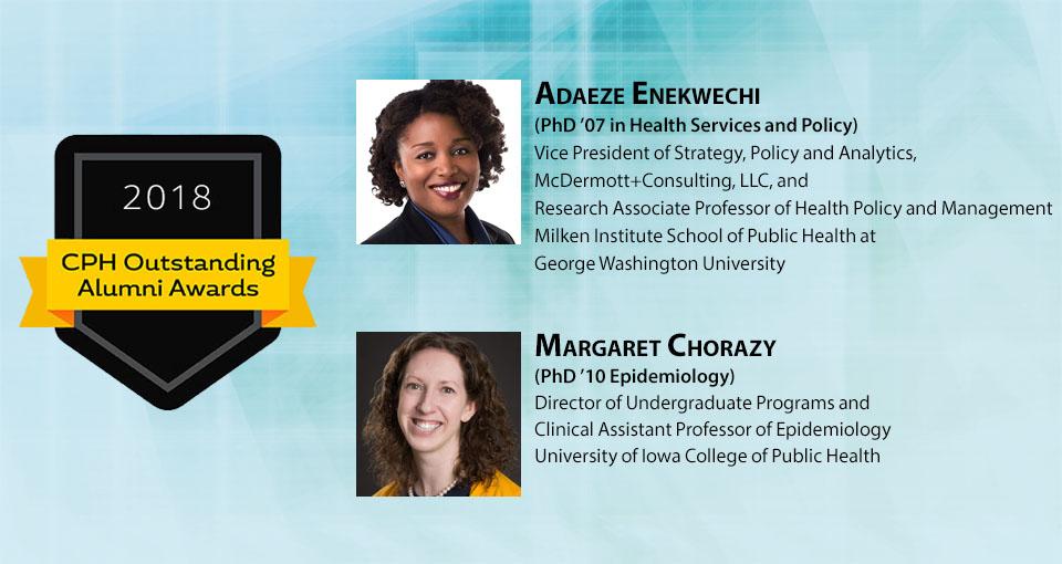 Outstanding Alumni Slider -- Adaeze Enkwechi and Margaret Chorazy