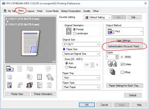 printer preferences