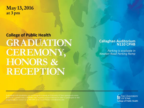 Graduation Ceremony Reception: CPH Graduation Ceremony, Honors, And Reception Is May 13