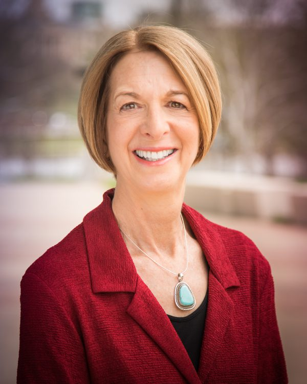 A portrait of Dr. Sue Curry, dean of the University of Iowa College of Public Health.