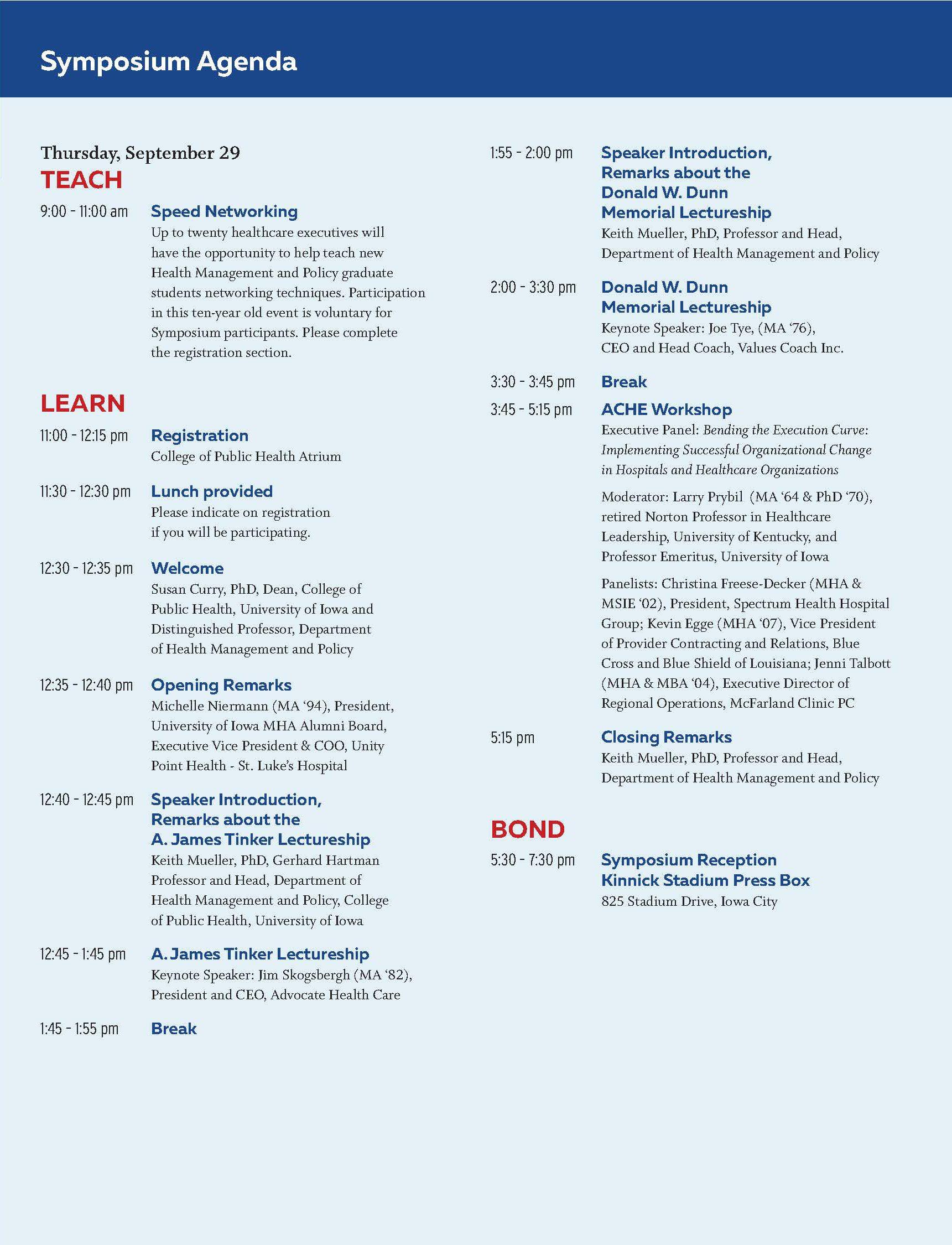 SLHL Symposium agenda 1