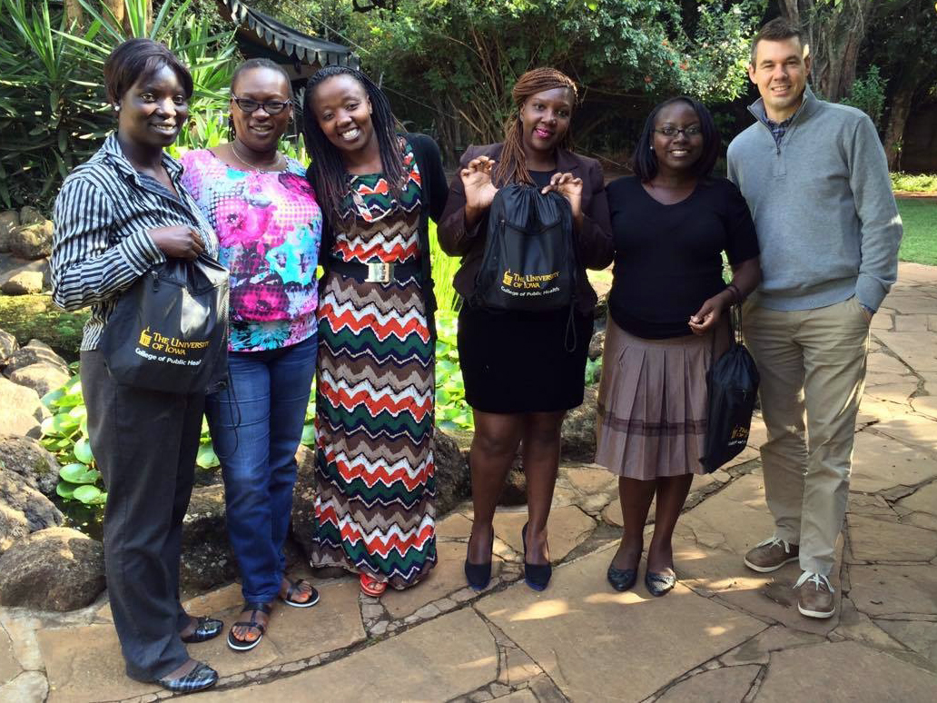 Researchers posing for photo in Kenya