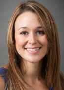 A portrait of Ashley Cozad of the University of Iowa College of Public Health.