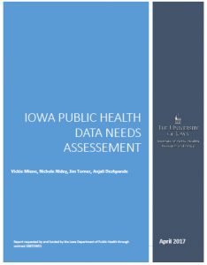 Public Health Data Needs Assessment Report Cover