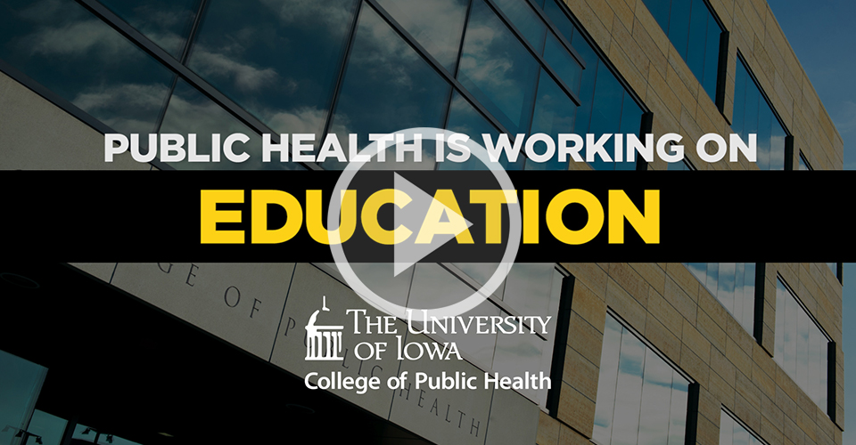 "Undergraduate: Be Part of It. Image "" Public Health is working ... education ... research ... and more..."""