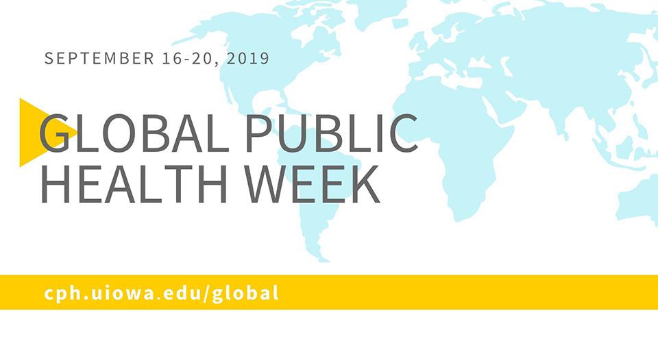 Global Public Health Week and world map