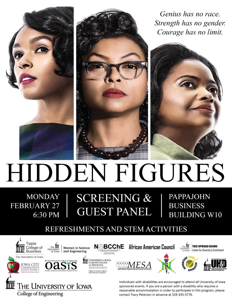 poster for Hidden Figures film