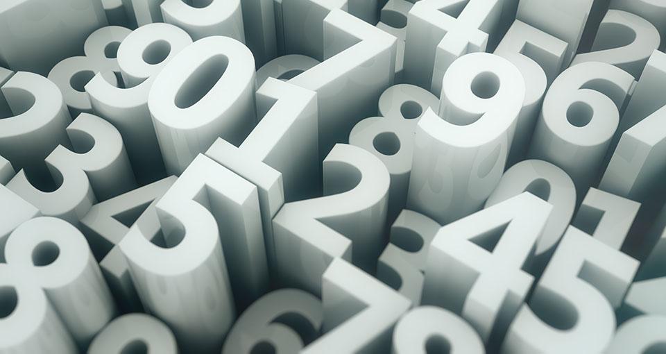 photo of random numbers