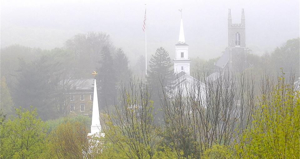 photo of Newtown, Conn. skyline