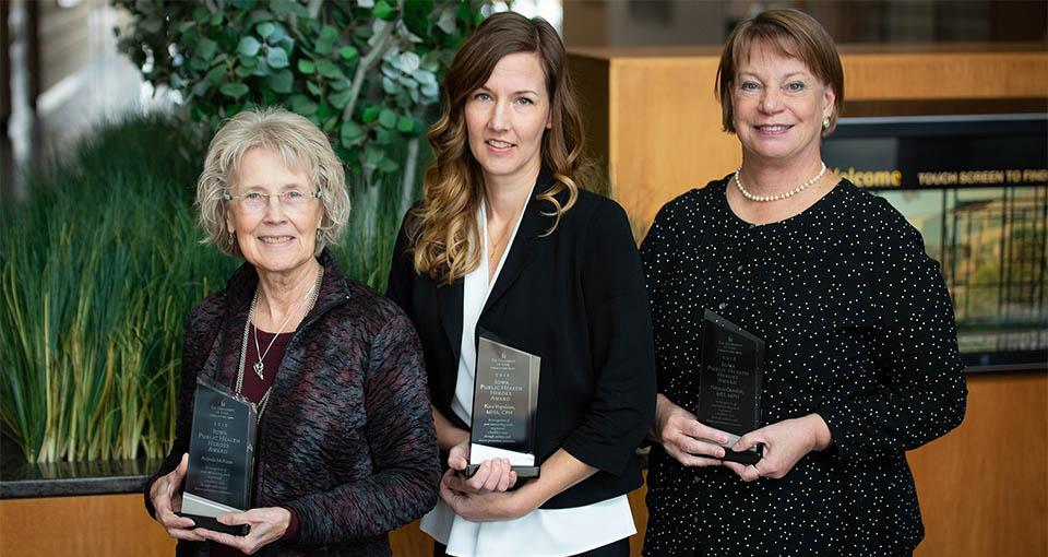 photo of Arlinda McKeen, Kara Vogelson, and Patricia Quinlisk