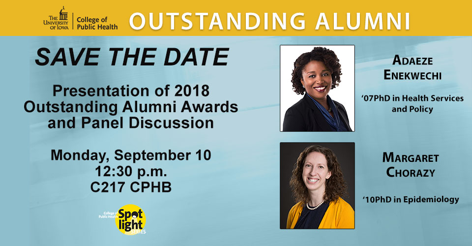 Save the date Outstanding Alumni 2018 slider