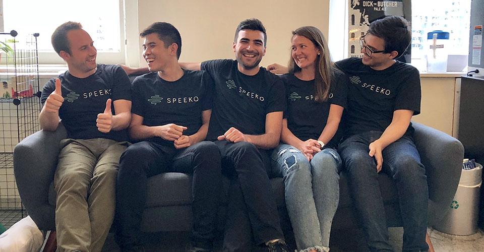 group photo of the Speeko team