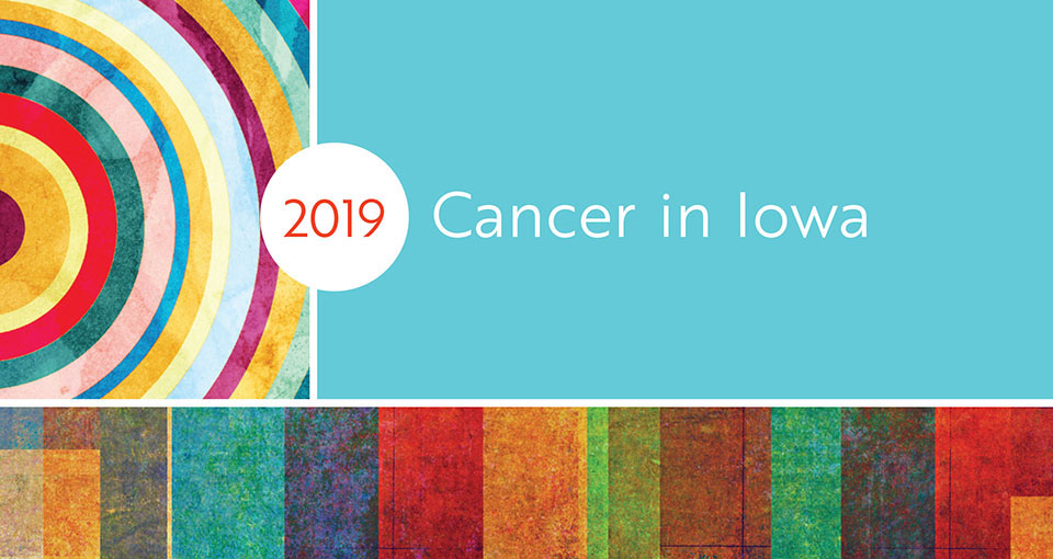 2019 cancer in Iowa cover illustration