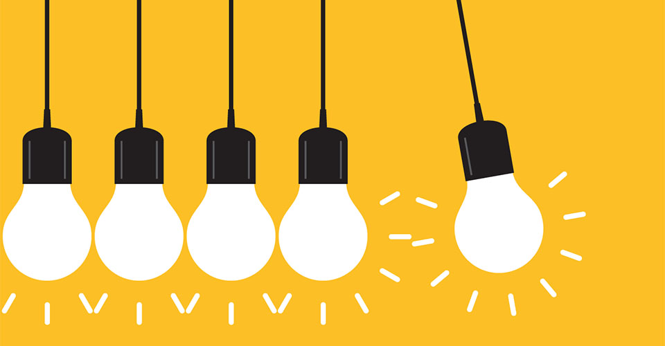 illustration of lightbulbs to represent ideas