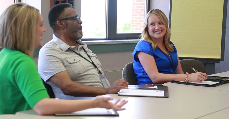 Mikaela Mikkelsen, an undergraduate public health major, at her summer internship with the Scott County Health Department in Iowa.