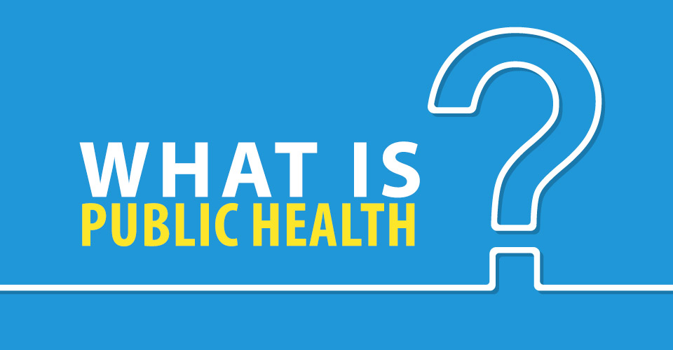 what is public health typography illustration