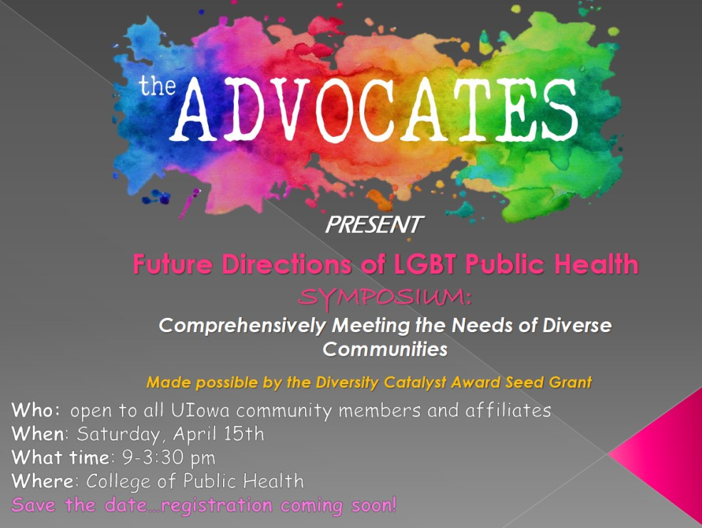 LGBT public health symposium is April 15