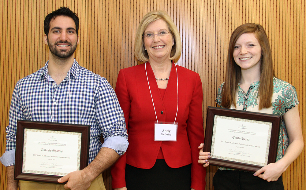 photo of 2017 Board of Advisors student award recipients