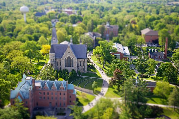 Aerial photo of Cornell College campus