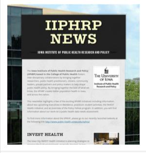 IIPHRP Newsletter Thumbnail (February 2017)
