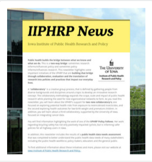 IIPHRP Newsletter Thumbnail (May 2017)