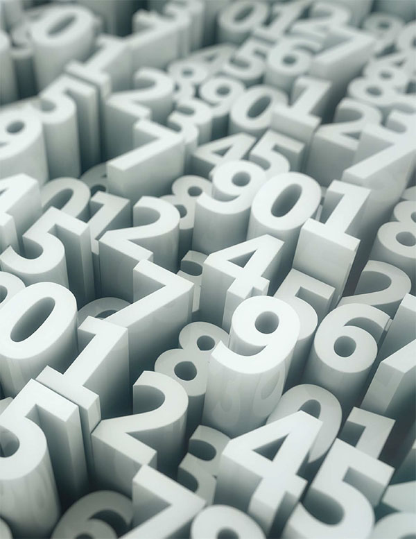 images of sculpted numbers