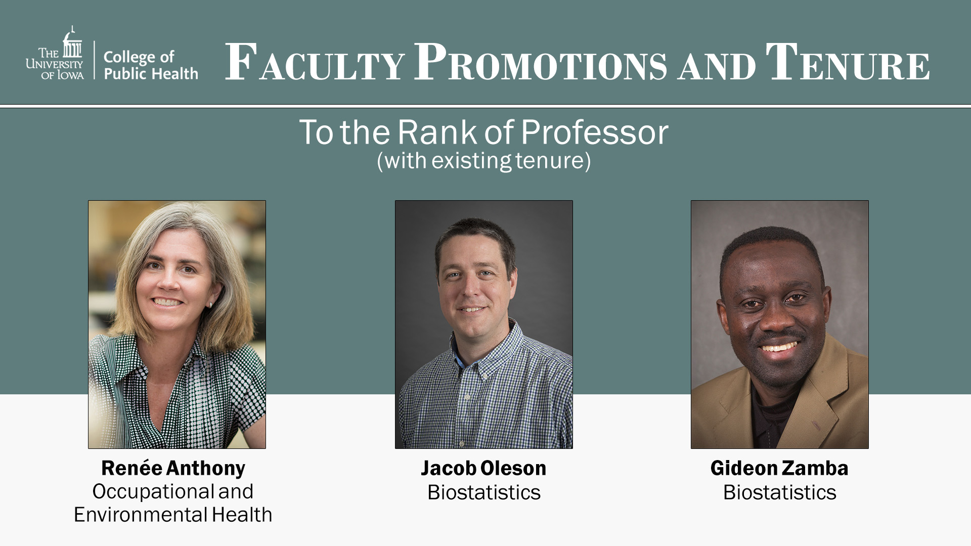 Faculty promotions 2018