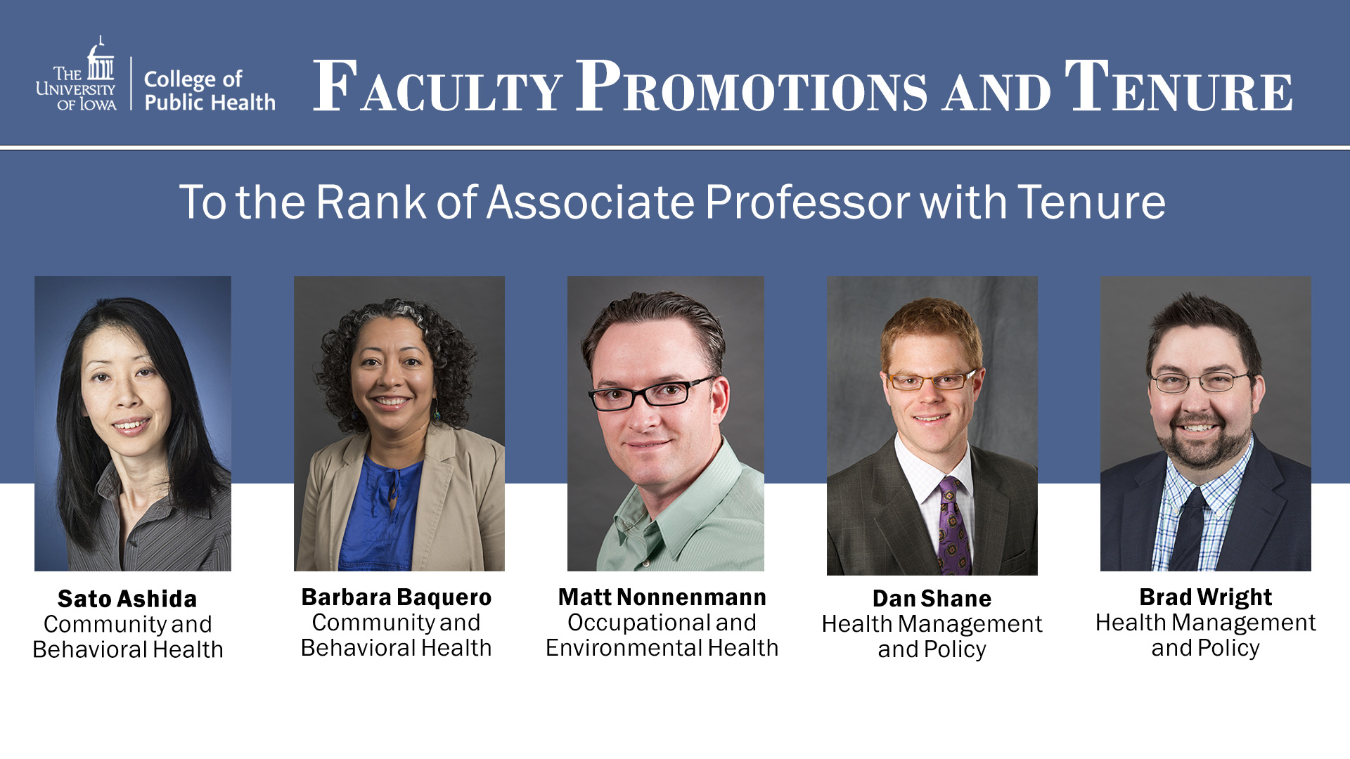 Faculty promotions assoc prof 2018
