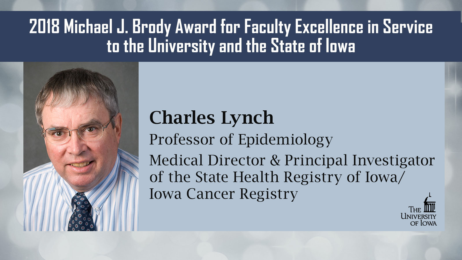 Chuck Lynch 2018 Michael J. Brody Award for Faculty Excellence