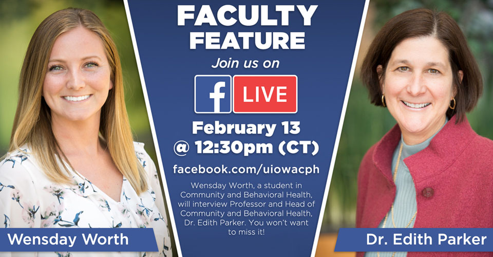 Facebook live with Edith Parker is Feb. 13