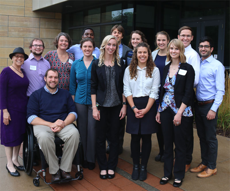 Group photo of UI and Iowa State University students who were chosen as winners of the 2017 One Health Day Student Events Competition for their efforts to organize the second annual Iowa One Health Conference.