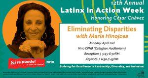 poster for Maria Hinojosa talk
