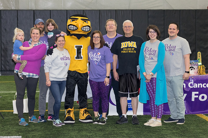 group photo of the 2018 CPH Relay for Life team