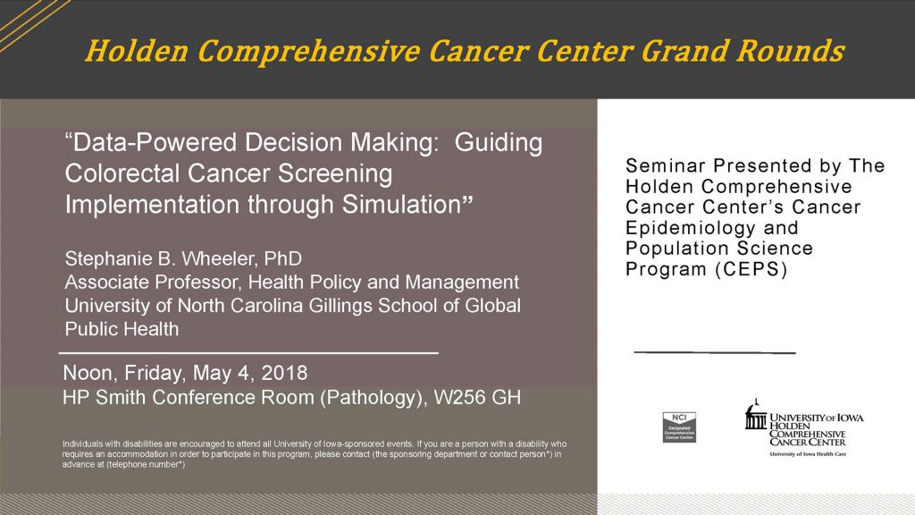 Mary Wheeler to speak about data and cancer screening