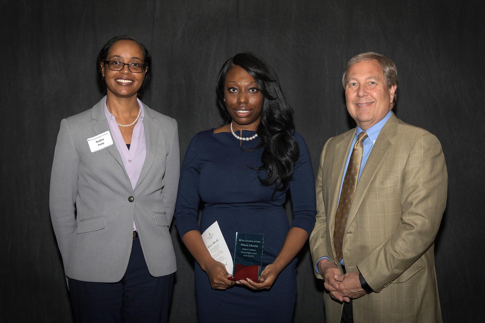 Winnie Uluocha receives the 2018 Hubbard Award