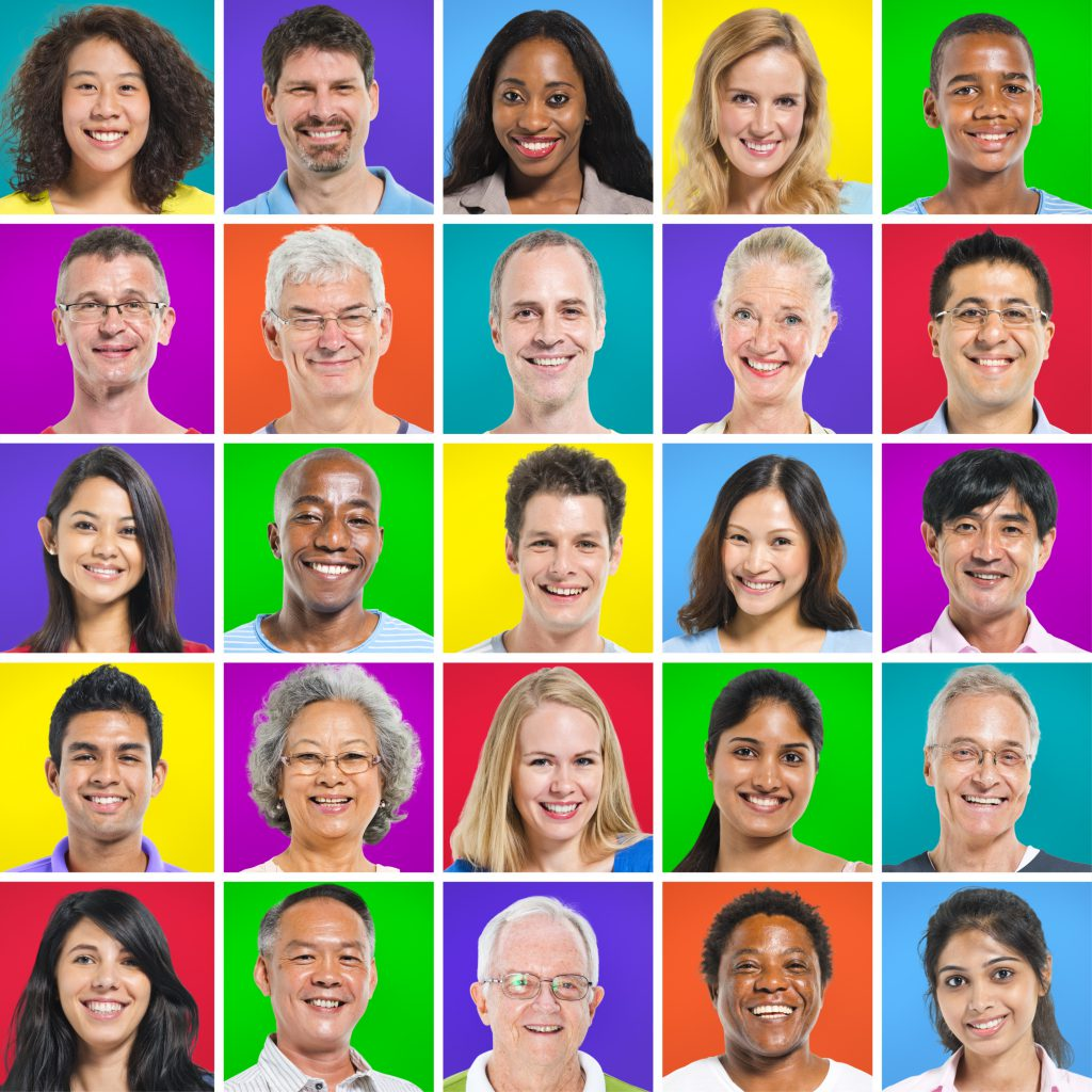 Diverse, Multi-Ethnic Group Of People