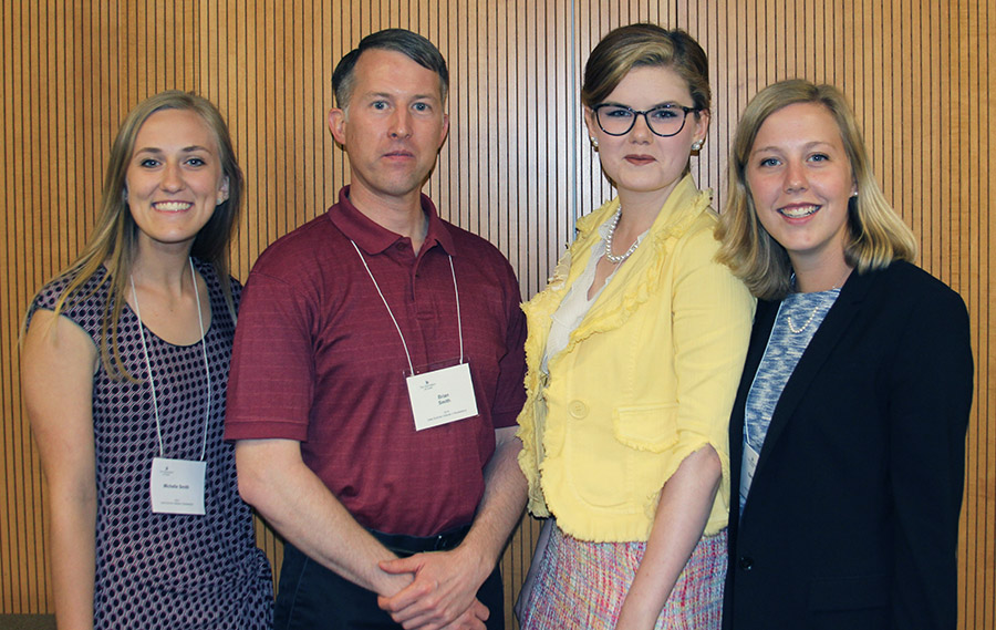 photo of Michelle Smith, Prof. Brian Smith, Tabitha Peter, and Sara Magnuson