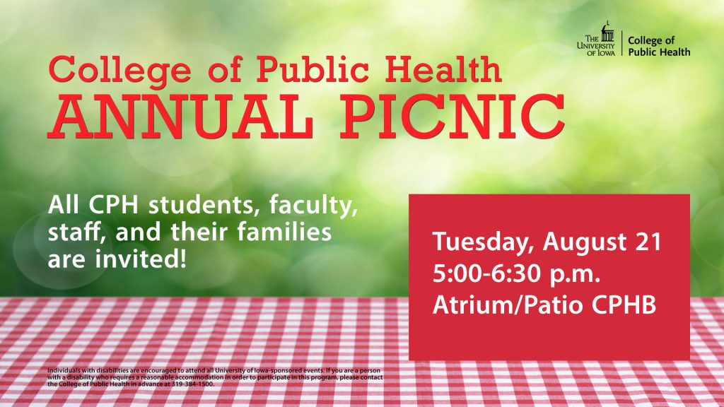 CPH annual picnic is 5 p.m. Aug. 21, 2018 at CPHB18