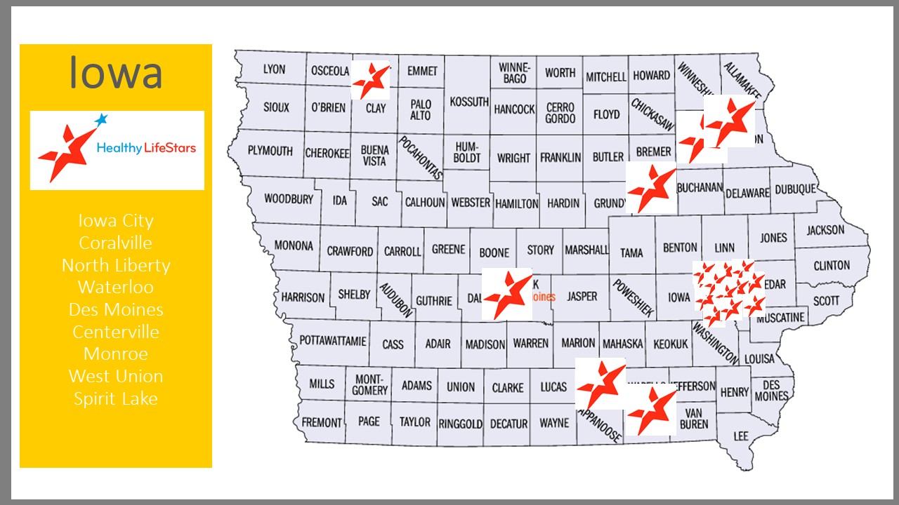 Iowa map of HLS sites