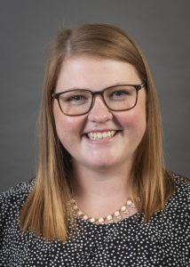 Portrait of Amy Ogilvie of the Department of Epidemiology att the University of Iowa College of Public Health.