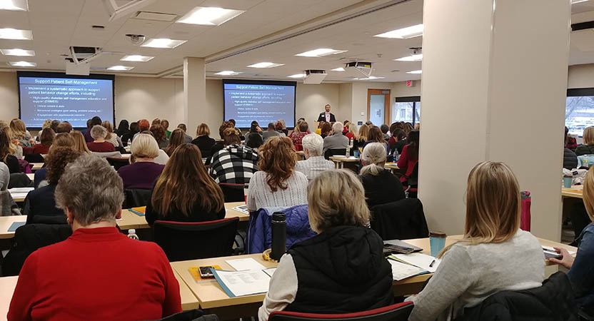 a roomful of participants at the 2018 Diabetes Summit