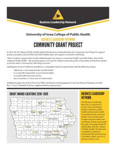 BLN Community Grant Program Brochure cover