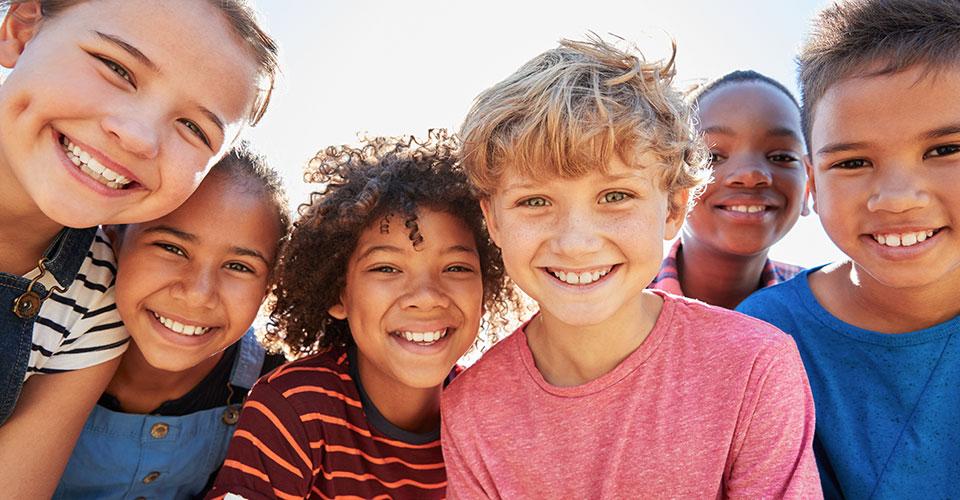 portrait of smiling kids