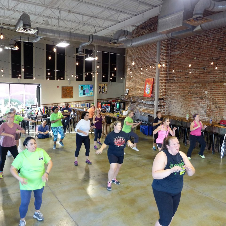 Ottumwa residents take part in an exercise class as part of the Active Ottumwa project.