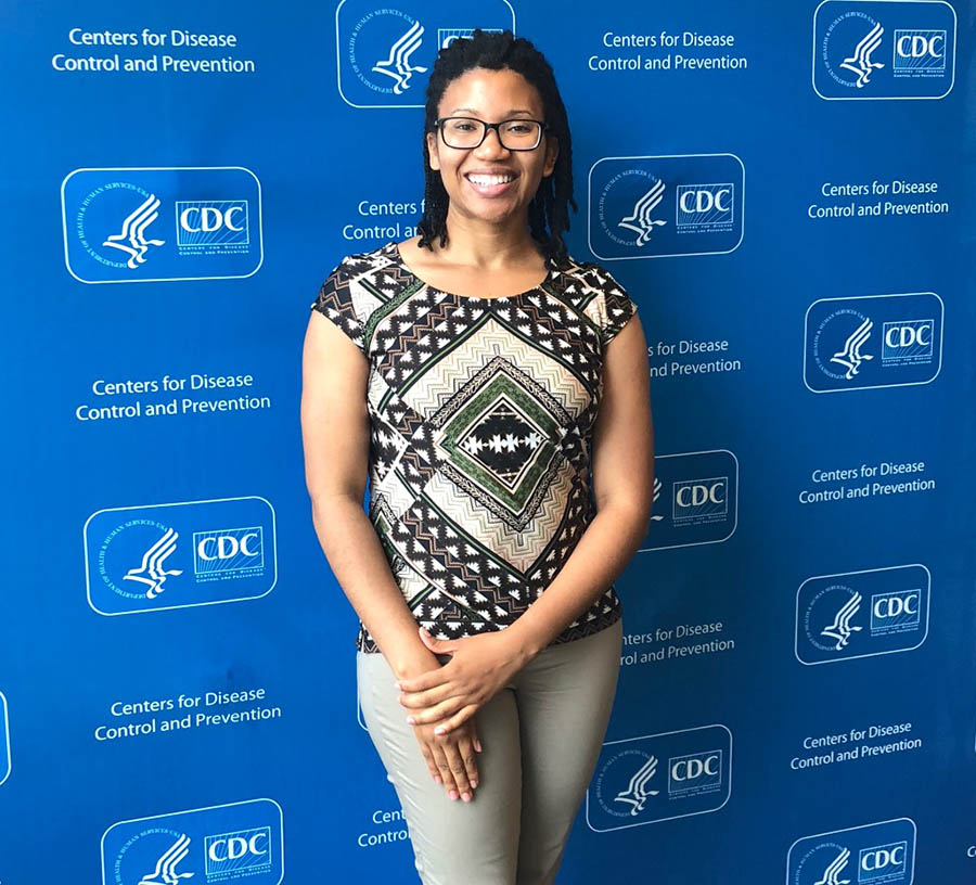 Chelsea Hicks completed an internship at the CDC's National Center for Injury Prevention and Control in the summer of 2018.