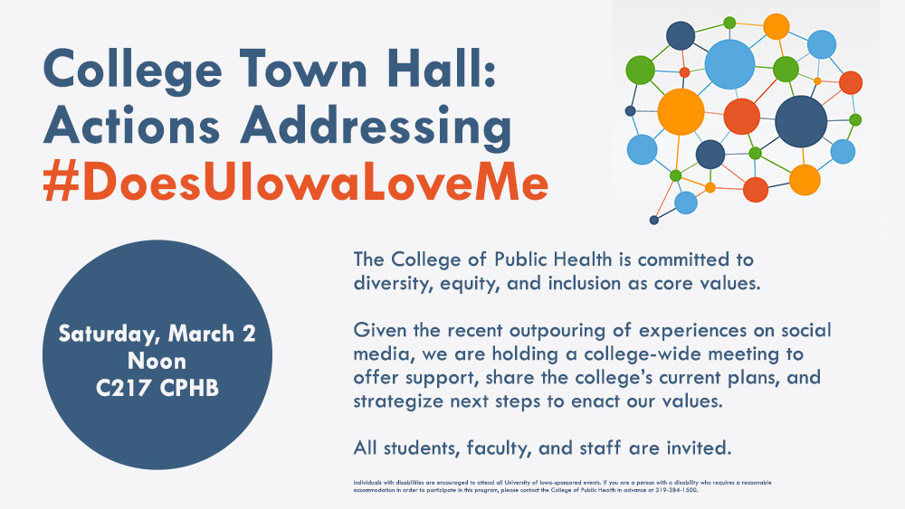 College Town Hall: Actions Addressing #DoesUIowaLoveMe