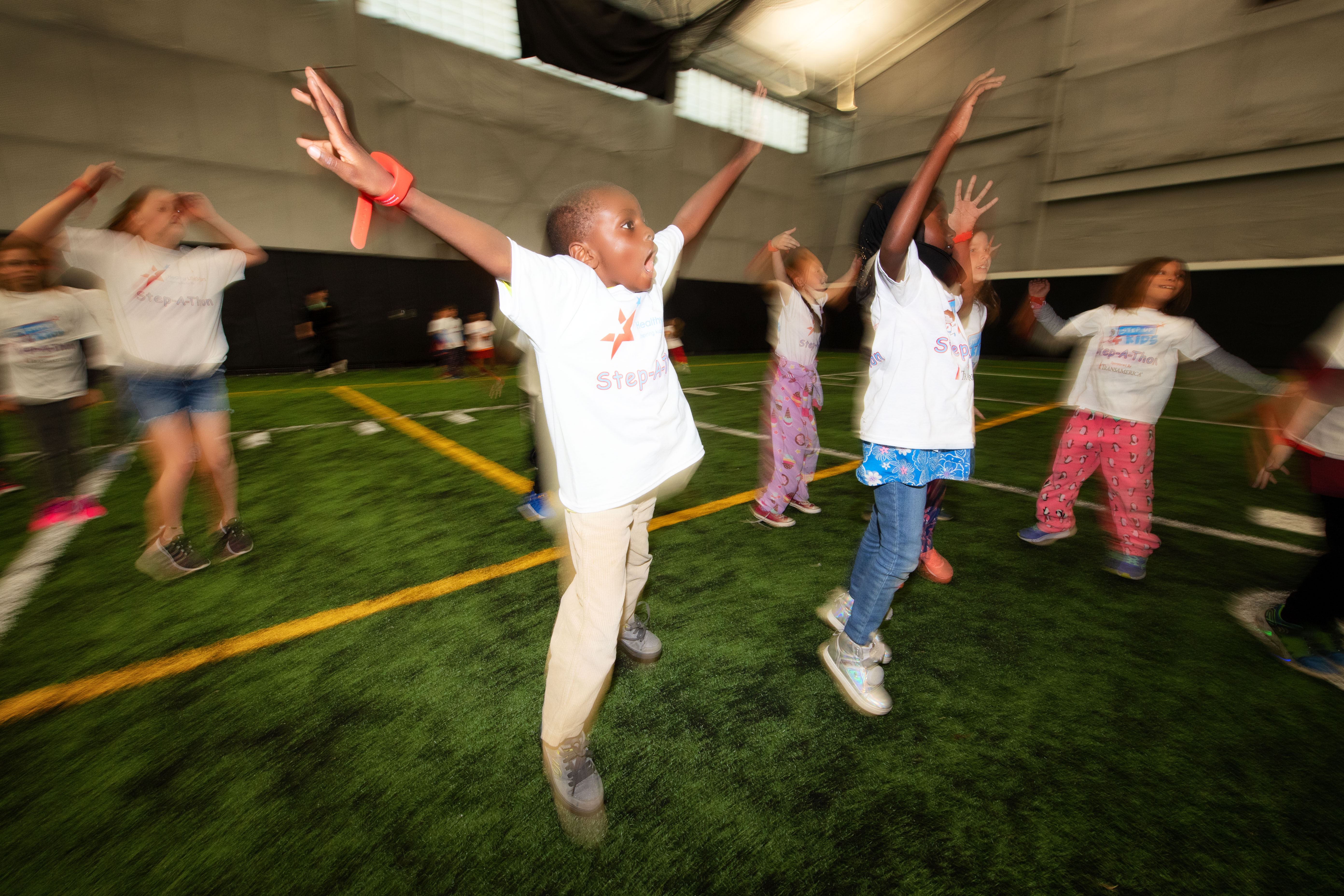 Students participate in the Healthy LifeStars Step A Thon