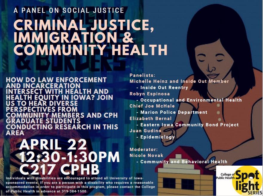 social justice spotlight flyer