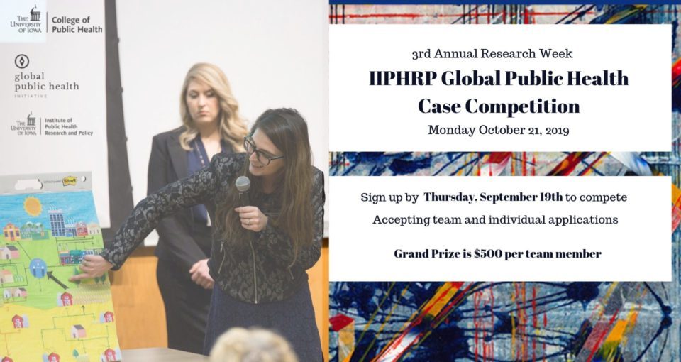 IIPHRP Global Public Health Case Competition sign up
