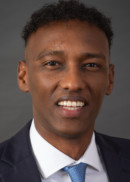 A portrait of Abdinasir Ali of the Master of Public Health program at the University of Iowa College of Public Health.